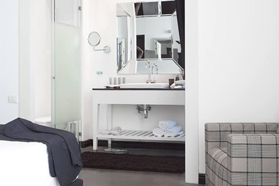 חדר אמבטיה בסוויטה הנשיאותית