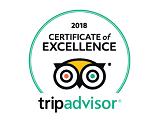 זוכה תעודת הצטיינות מטעם אתר TripAdvisor